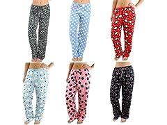 Women's Assorted Plush Pajama Pants 3 Pk