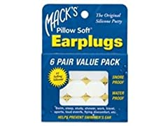 Mack's Pillow Soft Silicone Earplugs - 6 Pair