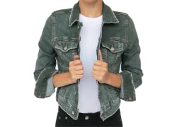 M2F Roadie Jacket Vintage Denim, Green