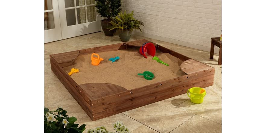 KidKraft Backyard Sandbox - Espresso - Kids & Toys