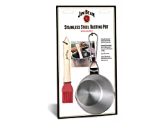 Stainless Steel Basting Pot And Silicone Brush