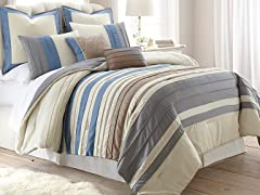 8-Pc Penny Lane Pleated Comforter Set