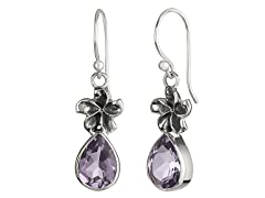 Amethyst Flower Earrings