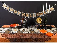 DII Glitter Happy Halloween Paper Banner