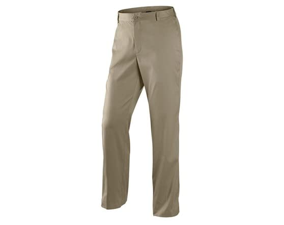 Nike dri fit flat front tech golf pants khaki