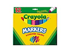 Crayola Non Washable Markers 12 Pack
