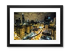 Chicago at Night by 5isalive (2 Sizes)