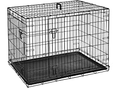 AmazonBasics Single Door & Double Door Folding Metal Dog Crate