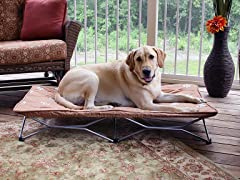 Fold and Go Large Travel Pet Bed - Choc Chip