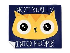 """Not Really Into People"" Mink Fleece Blanket"