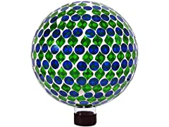 Sunnydaze 10-Inch Mosaic Glass Gazing Globe Ball