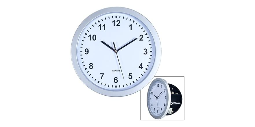 Wall Clock With Hidden Safe 10 Inches
