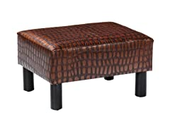 Alligator Print Foot Stool