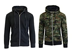 Fleece Zip Up Hoodie 2-Pack