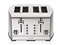 KRUPS 4-Slice Toaster - Chrome