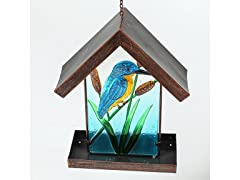 Winsome House Glass Hanging Bird Feeder