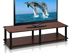 Just Not Tools Wide TV Stand Dark Cherry
