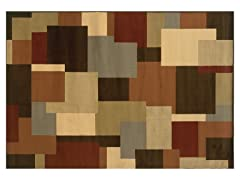 Emery Brown-Beige Geometric Rug (Multiple Sizes)