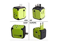 Travel Adapter Uppel Dual USB All-in-one