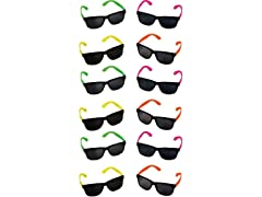 Rhode Island Novelty Neon 80's Style Party Sunglasses