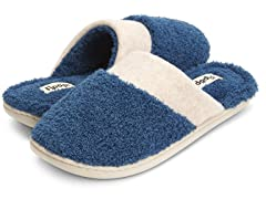 Womens French Terry Closed Toe Slipper