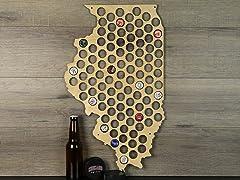 Beer Cap Map: Illinois