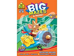 School Zone Big Workbook-Mazes & More