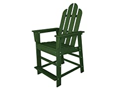 Long Island Counter Chair, Green