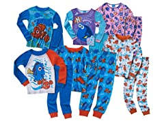 Disney Finding Dory 4-Piece Cotton Pajama Sets