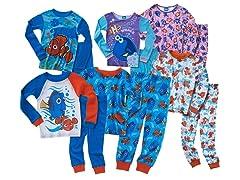 Disney Finding Dory 4-Piece Cotton Pajama Sets