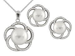 Fancy Swirl Pearl Set