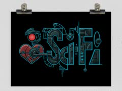 Eye Heart Sci-Fi Poster