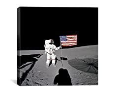 Man On The Moon with Flag
