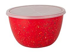 Confetti 2-Quart Mixing Bowl with Lid - Red
