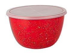 Zak Designs Confetti 2qt Red Serve Bowl