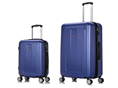 Dukap Hardside 2-PC Luggage, Blue