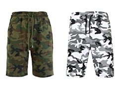 Men's F/T Camo Printed Jogger Shorts 2Pk