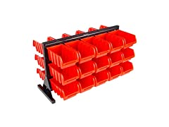 Stalwart Two Sided 30 Bin Storage Rack