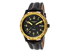 Men's Black Leather Watch