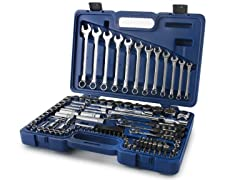 "111 PC 1/4"", 3/8"" & 1/2"" Drive Socket/Wrench Set"