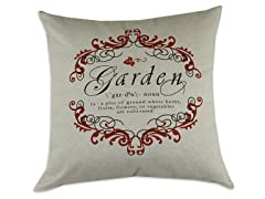 Garden Gate Garnet 26x26 Pillow