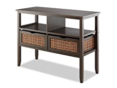 Whitmor Bahama 2-Drawer Entryway Table
