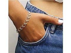 Sterling Silver Beaded Ring Bracelet
