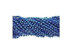 Round Royal Blue Mardi Gras Beads