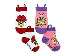 2-Pk Socks - Ladybug & Butterfly