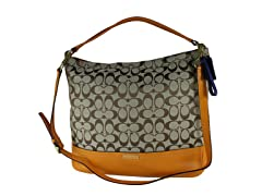 Coach Parker Signature Hobo Bag, Kha/Org
