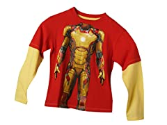 Ironman 3 Long Sleeve Tee - Red (4 & 7)