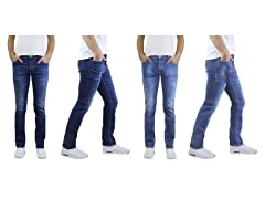 Men's Straight Slim Fit Jeans 2-Pack