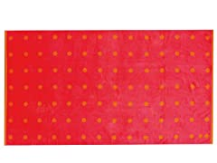 450GSM 36x70 Red & Orange Dot Towel