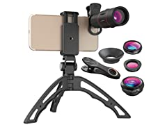 Handheld Folding Tripod with/without 4-in-1 Lens Kit